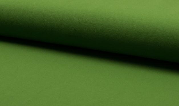05m Baumwoll Jersey uni moos grün - 1