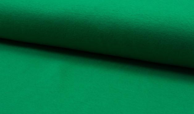 0,5m Bündchen grün gras mittelgrün glatt