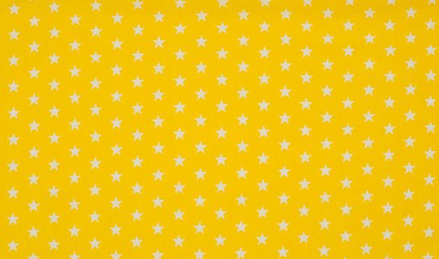 0 5m Jersey Mini Sterne klein weiss gelb Stars
