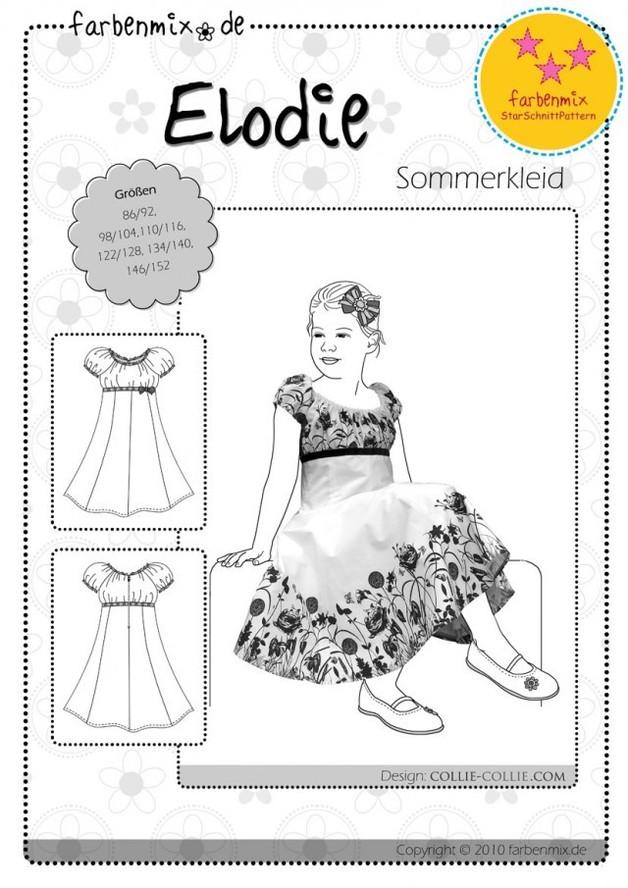 Papier Schnitt Elodie Drehkleid Kleid Farbenmix - 1