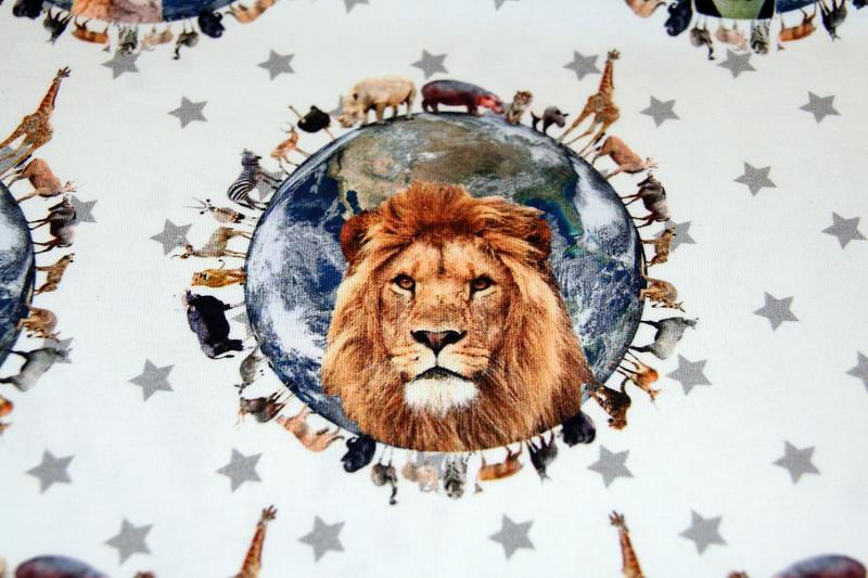 0 5m Jersey Tiere Animals World Sterne grau weiss