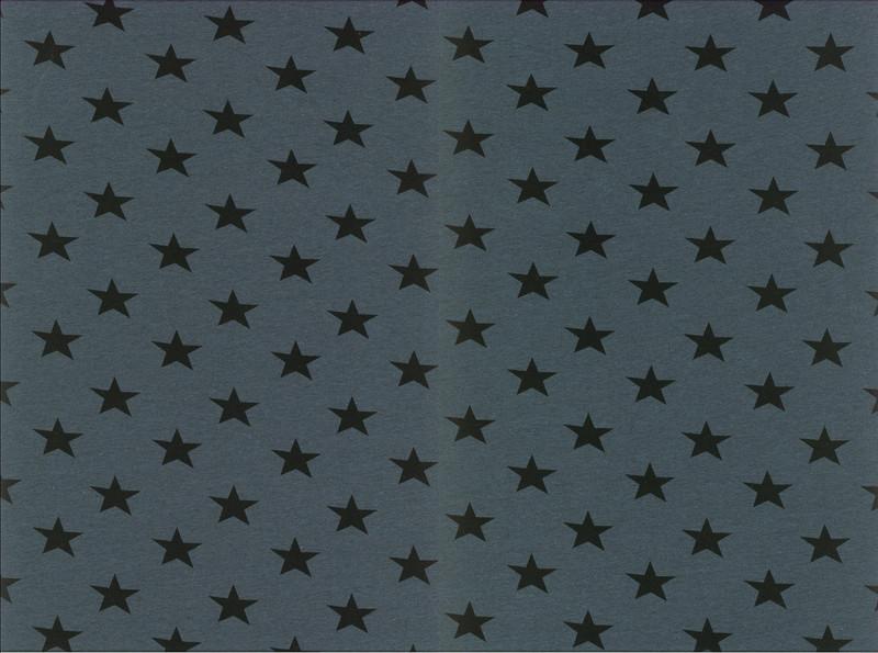 0 5m Jersey Kito Sterne meliert petrol schwarz
