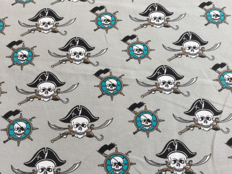 05m Sommersweat Piraten Seemann hellgrau - 1
