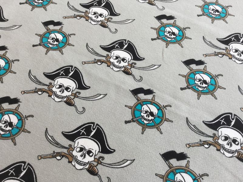 05m Sommersweat Piraten Seemann hellgrau - 2