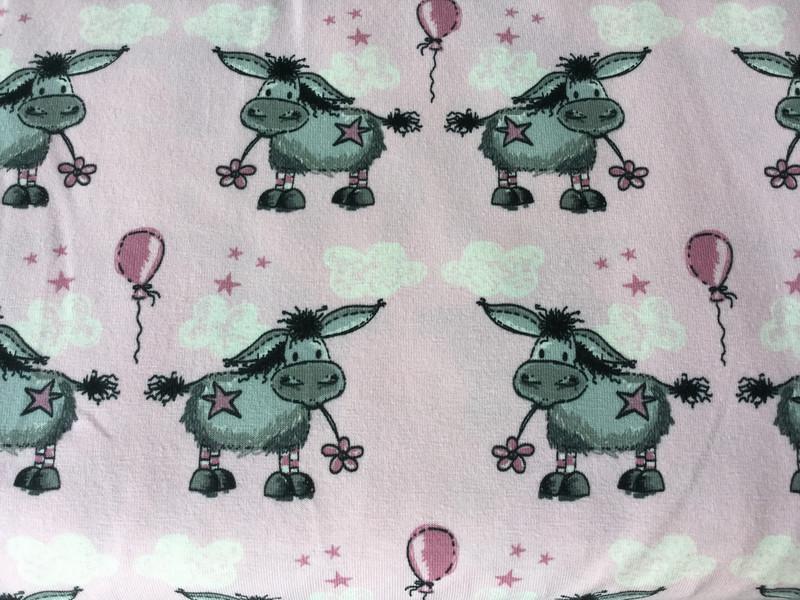0 5m Jersey Esel Donkey Lou rosa
