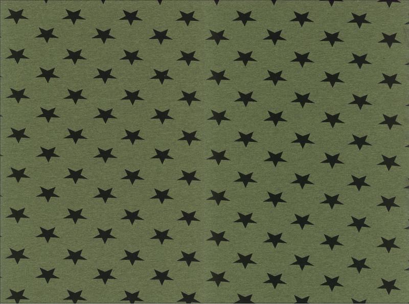 05m Jersey Kito Sterne meliert grün - 1