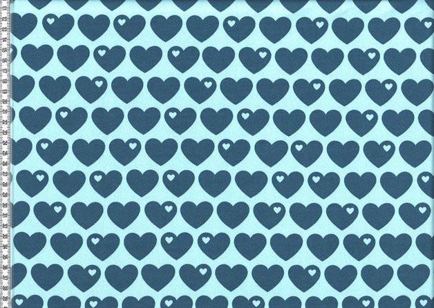 0 5m Sweat Herzen by Graziela grau schwarz