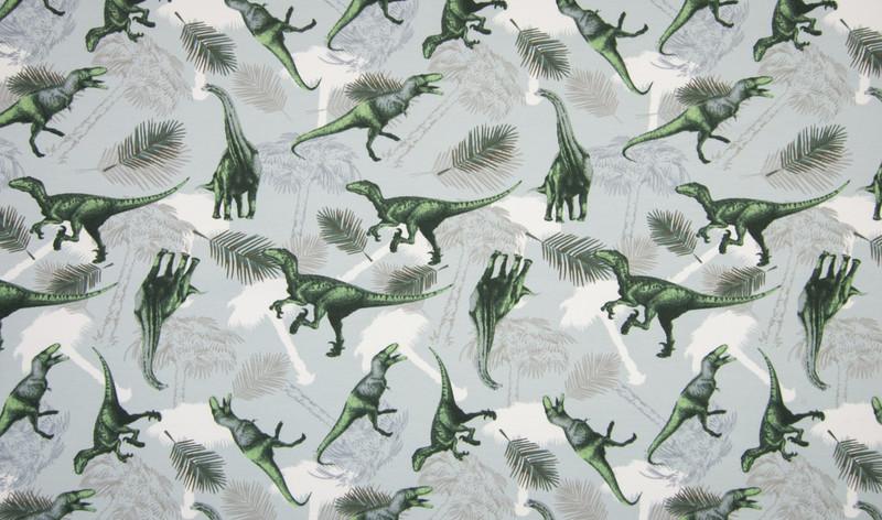 05m Jersey Dinos Sauriere grau grün - 1