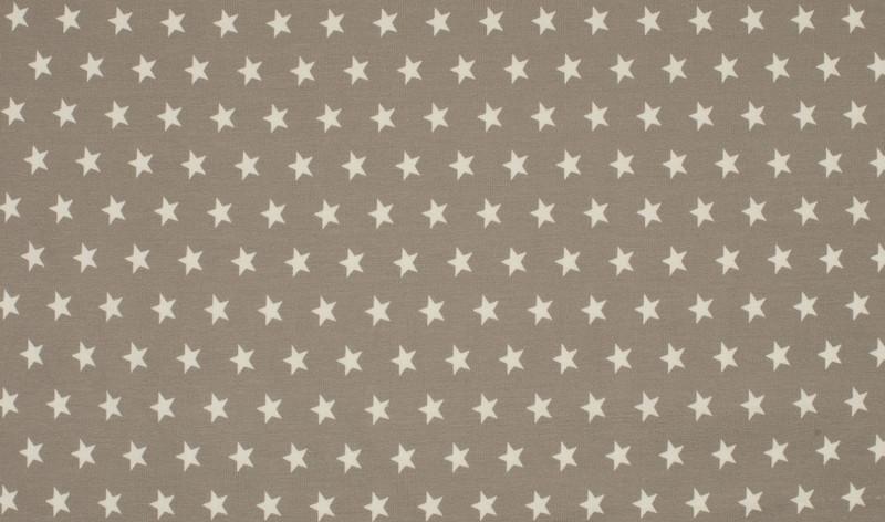 05m Jersey Blümchen taupe weiß grau - 2