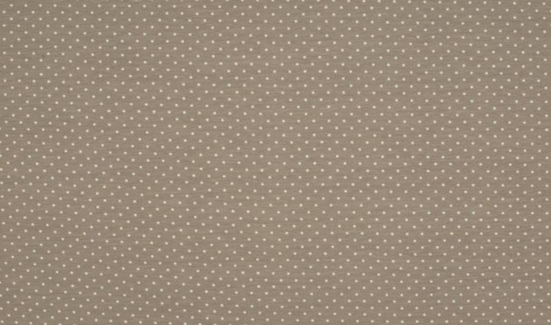 05m Jersey Blümchen taupe weiß grau - 3