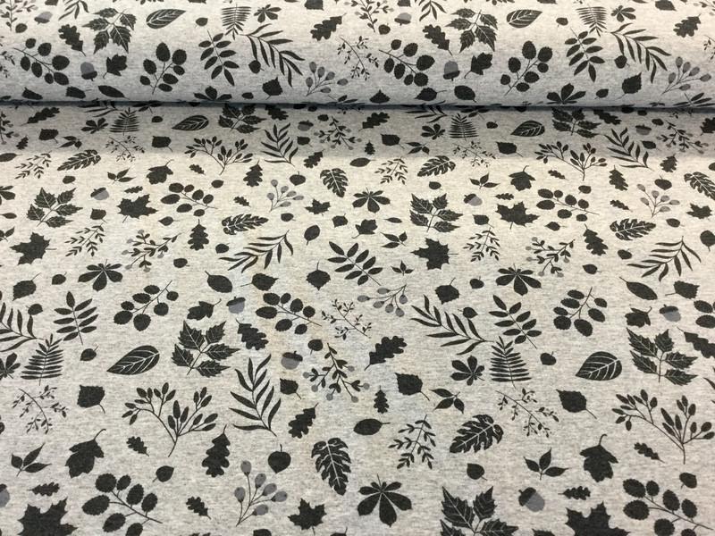 0 5m Jersey grau Blaetter schwarz Kombi
