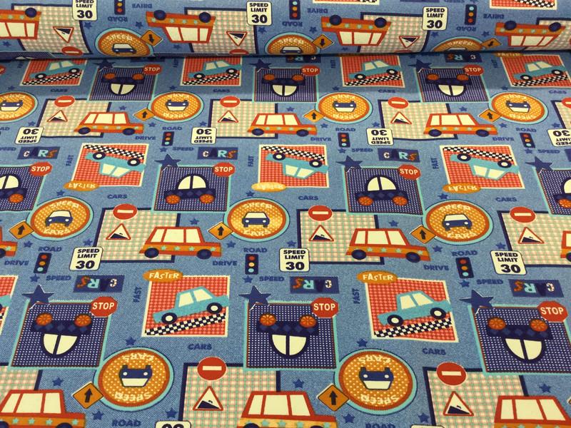 05m Jersey Auto Carl Verkehrszeichen jeansblau