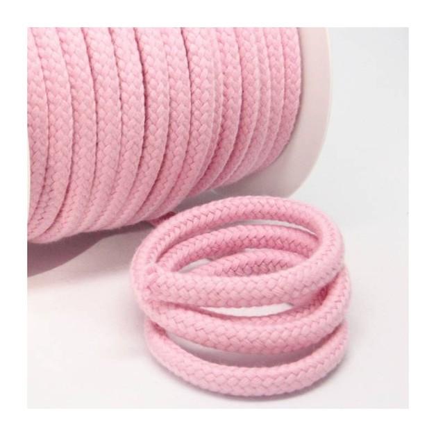 1m Baumwollkordel 10mm dick rosa - 1