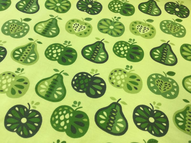 0 5m Jersey Retro Apfel Birne lime gruen