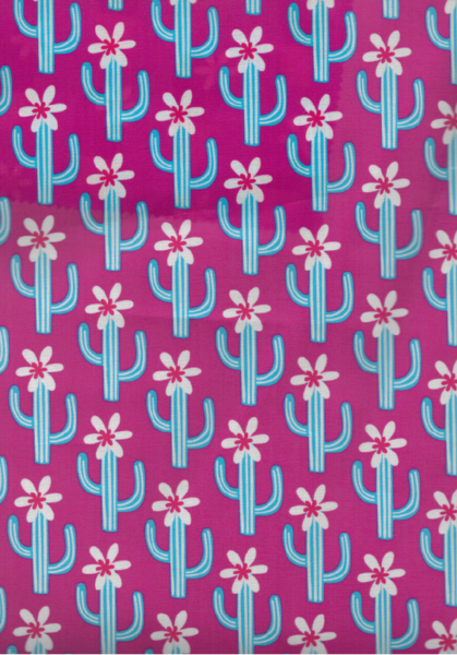 0,5m beschichtete Baumwolle Cactus Blossom pink - 1