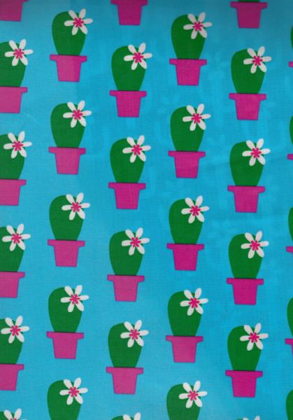 0,5m beschichtete Baumwolle Cactus Blossom pink - 2