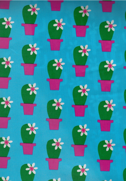 05m beschichtete Baumwolle Cactus Blossom pink