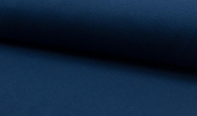 0,5m Bündchen glatt indigo blau - 1