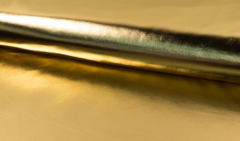 05m Gold Jersey Lame Fasching Einhorn