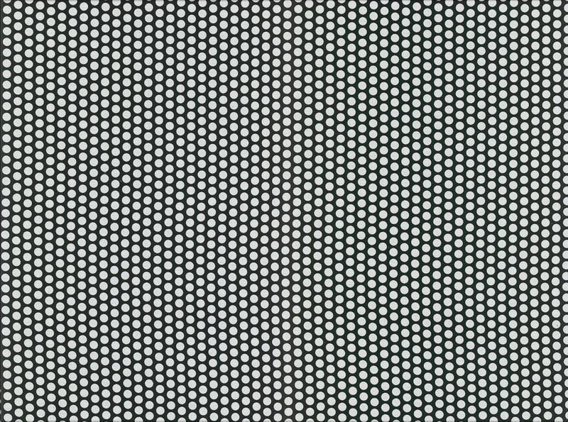 0,5m beschichtete Baumwolle Fresh Dots schwarz wei