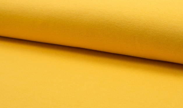 05m Bündchen glatt gelb Mais Sonnengelb - 1