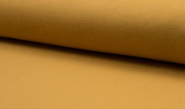 05m Bündchen glatt ocker senf gelb - 1