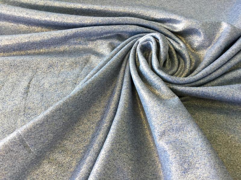 0 5m Sommer Sweat Blau Gold metallic