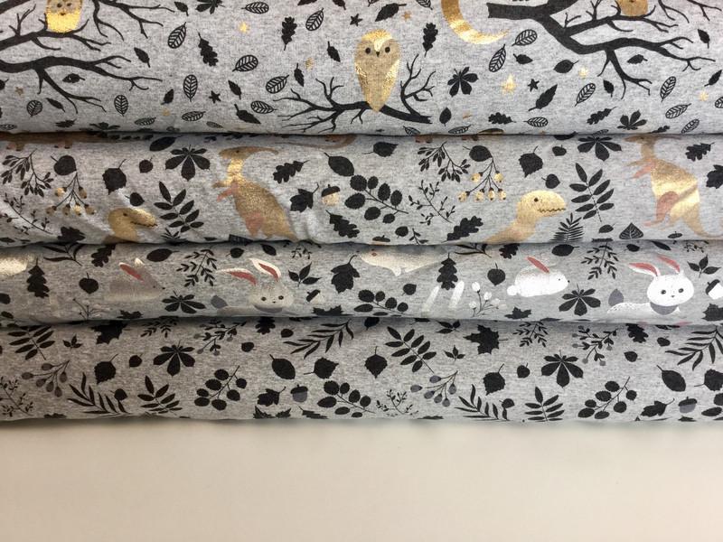 0 5m Jersey Eule Owls Gold Blaetter schwarz