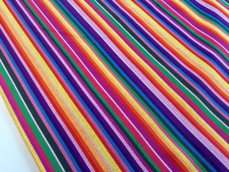 0 5m Taschenstoff Inka streifen Bunt maya
