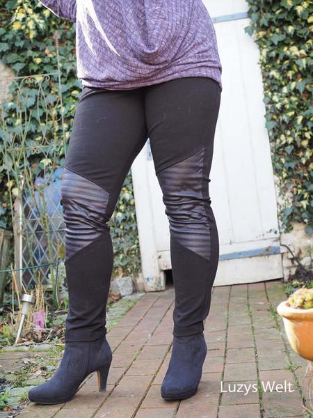 0 5m Bengaline Stretch schwarz elastisch Hose