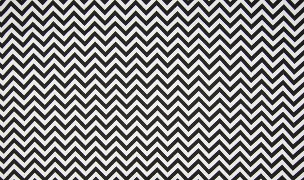 0,5m Jersey Chevron Zacken schwarz weiß Fischgrät - 1
