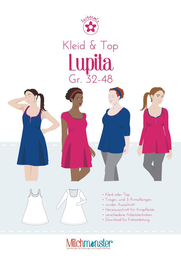 Schnitt Lupita Kleid Top Gr. 32-48 Milchmonster