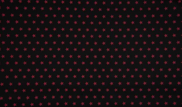 0 5m Jersey Sterne schwarz weinrot dunkelrot