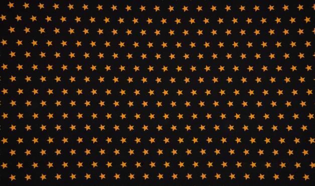 0 5m Jersey Sterne schwarz ocker gelb