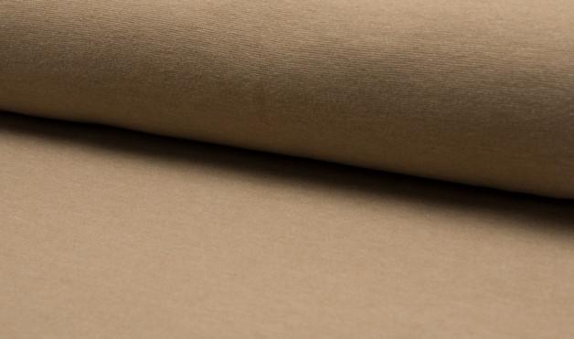 0,5m Bündchen meliert glatt beige hellbraun - 1