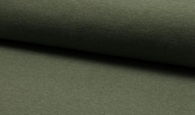 05m Bündchen glatt meliert khaki grün