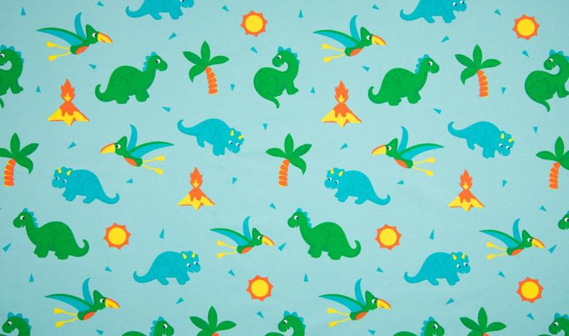 0 5m Jersey Dino Babys tuerkis gelb gruen
