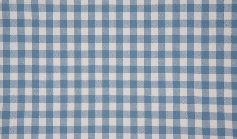 0,5m Baumwolle Karo 1cm weiß dusty blue Jeans baby - 1