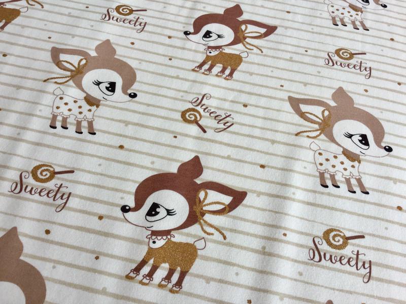05m Jersey Hafenkitz Sweety Gold creme - 2