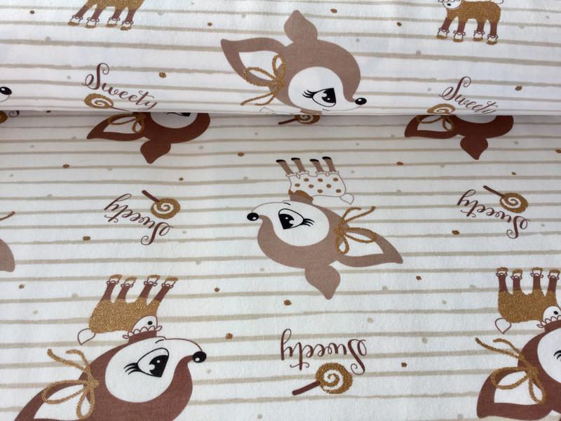 05m Jersey Hafenkitz Sweety creme Goldglitzer