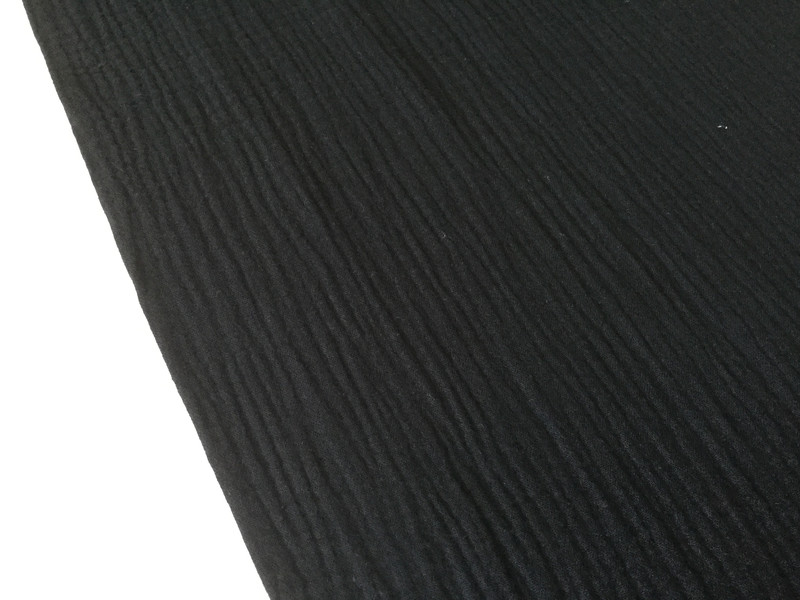 0,5m Musseline Double Gauze schwarz - 1