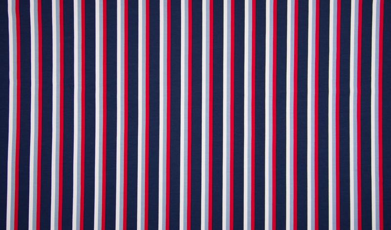0 5m Jersey Maritim Streifen Ringel rot blau weiss