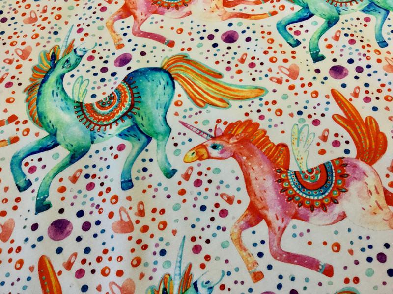 05m Jersey Einhorn Unicorn weiß bunt - 2