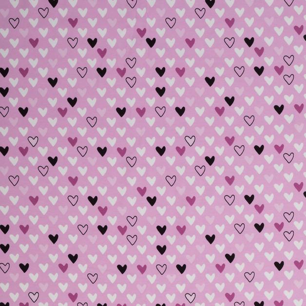 0 5m Jersey Herz Herzen flieder weiss schwarz