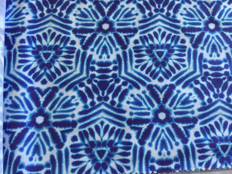 05m Baumwolle Shibori Batik Tonbo Indigo