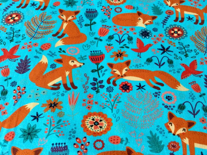 05m Jersey Fuchs Fox Türkis orange - 2