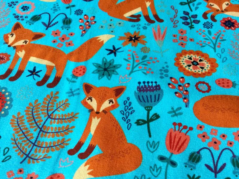 05m Jersey Fuchs Fox Türkis orange - 4