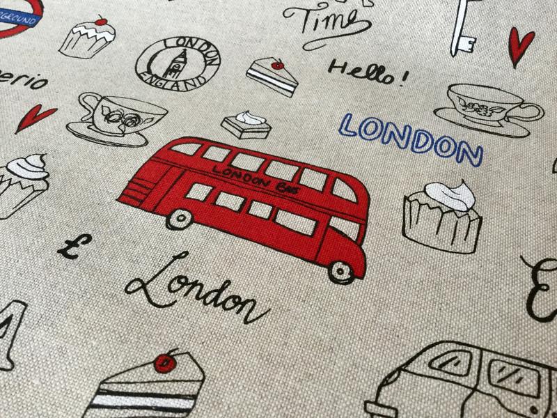 05m Taschenstoff Deko Leinen London 2