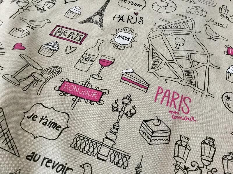 05m Canvas Taschenstoff Deko Leinen Paris - 4