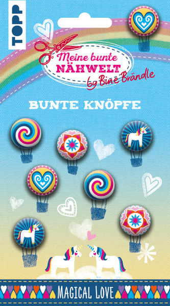 Bine Braendle Bunte Knoepfe Magical Love 8 Knoepfe